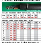 ราคาตั้ง สายไฟทนความชื้น H07RN-F (Price List)